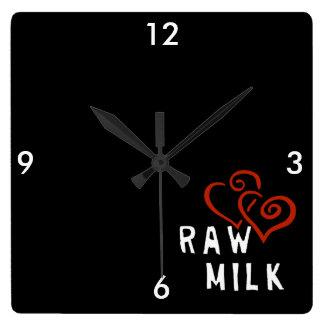 生乳のための愛 スクエア壁時計