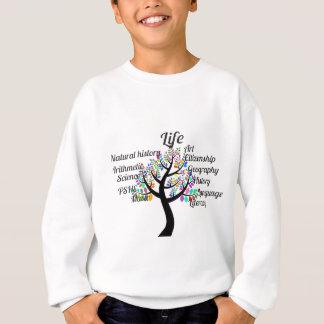 生命および教育のカラフルな枝 スウェットシャツ