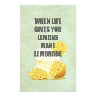 生命がレモンを与えるとき、レモネードの引用文を作って下さい 便箋
