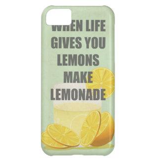 生命がレモンを与えるとき、レモネードの引用文を作って下さい iPhone5Cケース