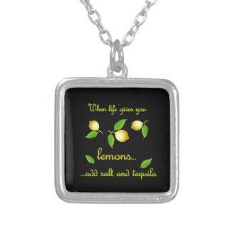 生命がレモンを与える時 シルバープレートネックレス