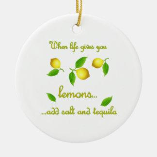 生命がレモンを与える時 セラミックオーナメント