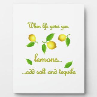 生命がレモンを与える時 フォトプラーク