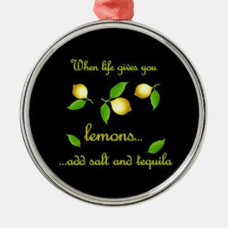 生命がレモンを与える時 メタルオーナメント