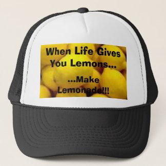 生命がレモンを…与えるとき、レモンは… Lを…作ります キャップ