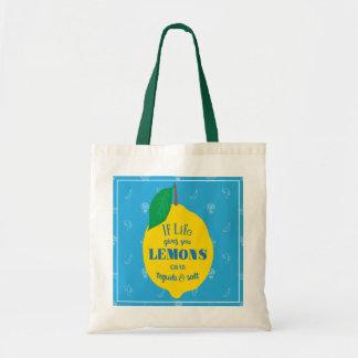 生命がレモン、グラブのテキーラおよび塩を与えれば トートバッグ