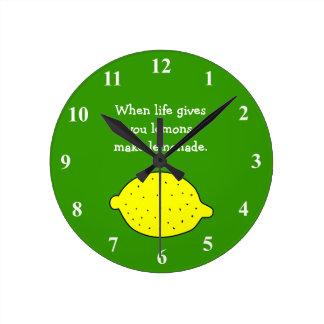 生命が与えるときレモンはレモネードの時計を作ります ラウンド壁時計