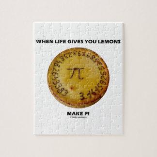 生命が与えるときレモンは作りますPi (パイユーモア)を ジグソーパズル