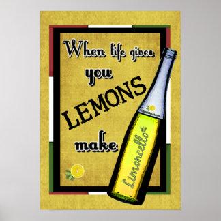 生命が与えるときレモンはLimoncelloを作ります ポスター
