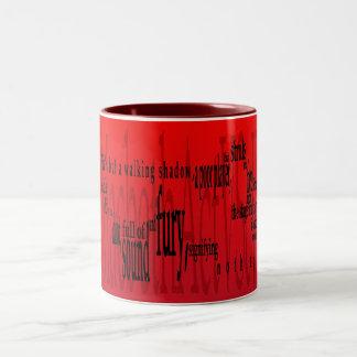 「生命しかし歩く影」マクベスシェークスピア ツートーンマグカップ