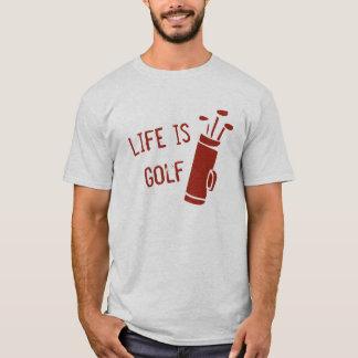 生命ならゴルフクラブ赤いゴルフをするTシャツ Tシャツ