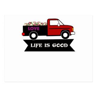 生命によってはよいです、開花しますトラック、恋人のカップルのためのギフトが ポストカード