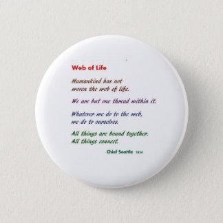 生命のくもの巣: ネイティブアメリカンの知恵 5.7CM 丸型バッジ