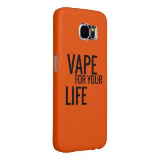 生命のオレンジVape Samsung Galaxy S6 ケース