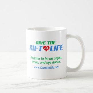 生命のギフトを与えて下さい コーヒーマグカップ