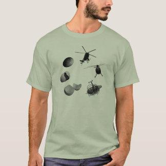 生命のヘリコプターの円 Tシャツ