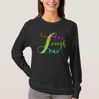 生命の主要なLsの~の生きている笑い愛Tシャツのデザイン Tシャツ