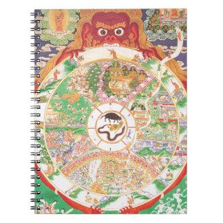 生命の仏教の車輪 ノートブック