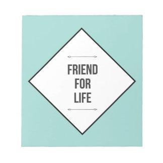 生命の友人 ノートパッド