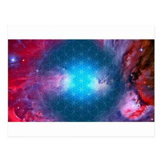 生命の宇宙花 ポストカード