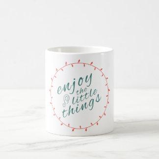 生命の小さい事を意欲を起こさせますインスパイア楽しんで下さい コーヒーマグカップ