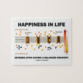 生命の幸福はバランスをとった上で左右されます ジグソーパズル