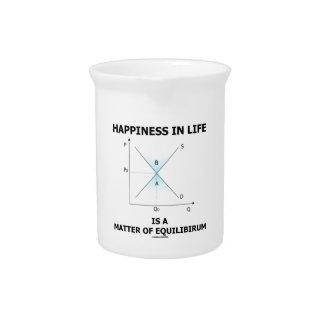 生命の幸福は平衡の問題です ピッチャー