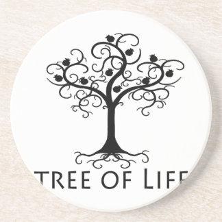 生命の樹、渦巻の木、ザクロZazzle.png コースター