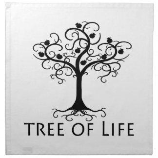 生命の樹、渦巻の木、ザクロZazzle.png ナプキンクロス