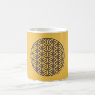 生命の神聖な幾何学の花 コーヒーマグカップ