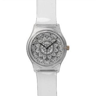 生命の種が付いている花の曼荼羅 腕時計