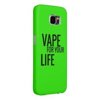 生命の蛍光緑のVape Samsung Galaxy S6 ケース
