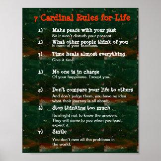 生命の7つの基本ルール ポスター