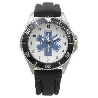 生命のEMTの救急医療隊員EMSの星 腕時計