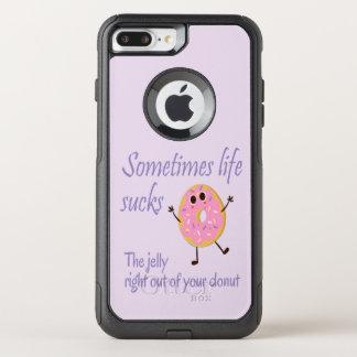 生命はあなたのドーナツおもしろいの引用からゼリーを吸います オッターボックスコミューターiPhone 8 PLUS/7 PLUSケース