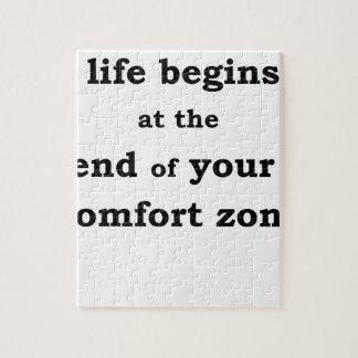生命はあなたの心地よい地帯の終わりに始まります ジグソーパズル