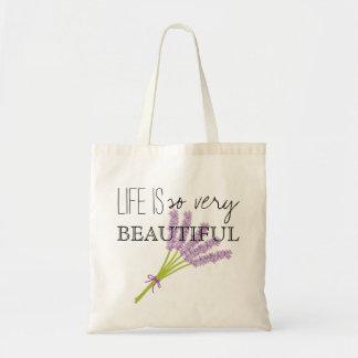 生命はそう非常に美しいです- BOHO トートバッグ