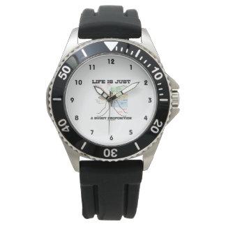 生命はですちょうどおかしな提案(カのユーモア) 腕時計