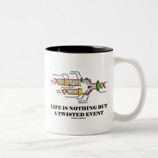 生命はです歪んだイベント(DNAのユーモア) ツートーンマグカップ