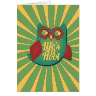 生命はやじり声フクロウです カード