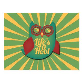 生命はやじり声フクロウです ポストカード