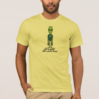 生命はよりよいです時あなたは緑 Tシャツ