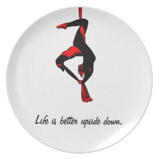 生命はよりよく逆さまのプレート-絹です プレート