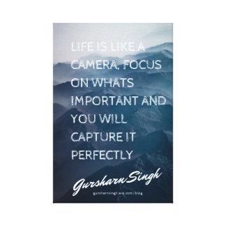 生命はカメラのようです キャンバスプリント