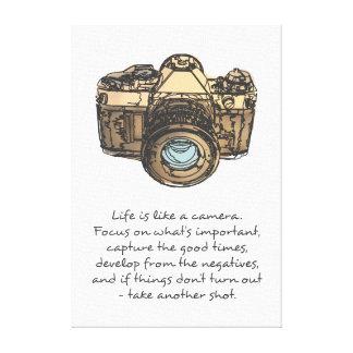 生命はカメラの引用文のようです キャンバスプリント