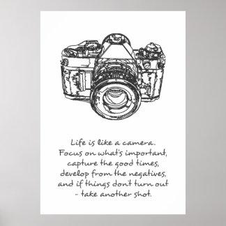 生命はカメラの引用文ポスターのようです ポスター