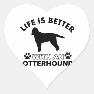 生命はカワウソ猟犬とよりよいです ハートシール