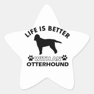 生命はカワウソ猟犬とよりよいです 星シール