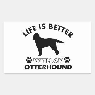 生命はカワウソ猟犬とよりよいです 長方形シール