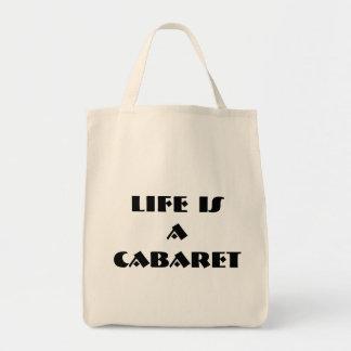 生命はキャバレーのオーガニックなバッグです トートバッグ